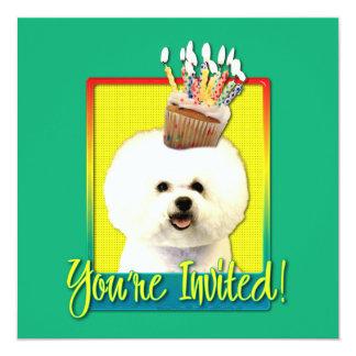 Invitation Cupcake - Bichon Frise