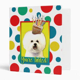 Invitation Cupcake - Bichon Frise 3 Ring Binders
