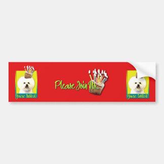 Invitation Cupcake - Bichon Frise Bumper Sticker