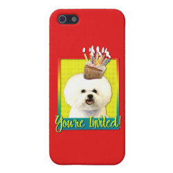 Case Savvy iPhone 5 Matte Finish Case with Bichon Frise Phone Cases design