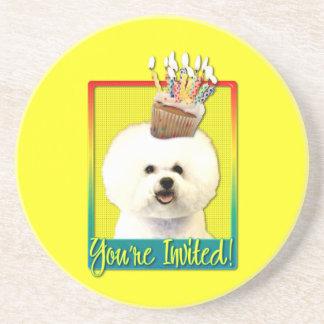 Invitation Cupcake - Bichon Frise Coasters