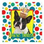 Invitation Cupcake - Boston Terrier