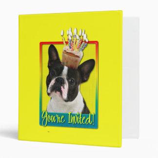 Invitation Cupcake - Boston Terrier Binder