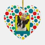 Invitation Cupcake - Boston Terrier Ornaments