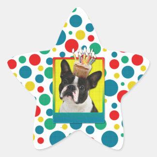 Invitation Cupcake - Boston Terrier Star Sticker