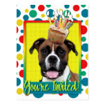 Invitation Cupcake - Boxer - Vindy Postcard