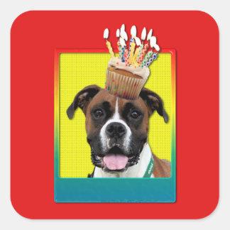 Invitation Cupcake - Boxer - Vindy Square Sticker