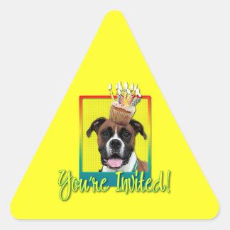 Invitation Cupcake - Boxer - Vindy Triangle Sticker
