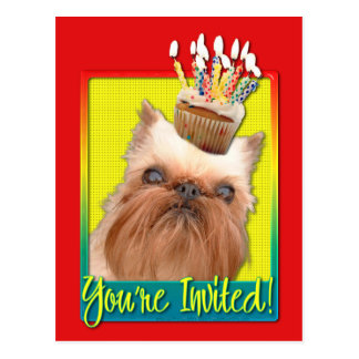 Invitation Cupcake - Brussels Griffon Postcard