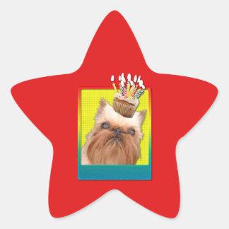 Invitation Cupcake - Brussels Griffon Star Stickers