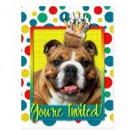 Invitation Cupcake - Bulldog - Dark Postcard