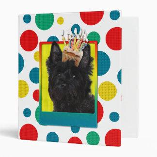 Invitation Cupcake - Cairn Terrier - Rosco 3 Ring Binders