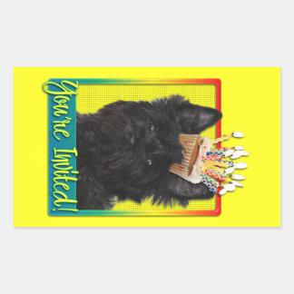 Invitation Cupcake - Cairn Terrier - Rosco Rectangular Sticker