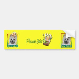 Invitation Cupcake - Cairn Terrier - TeddyBear Bumper Sticker
