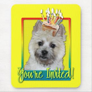 Invitation Cupcake - Cairn Terrier - TeddyBear Mouse Pad