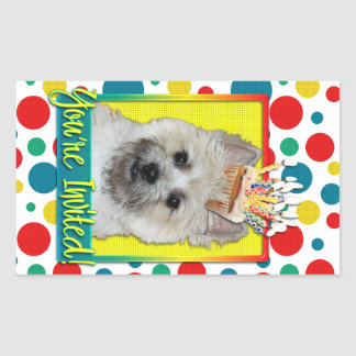 Invitation Cupcake - Cairn Terrier - TeddyBear Rectangle Sticker