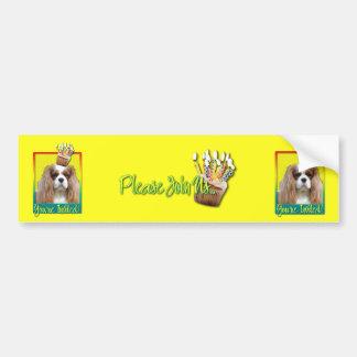 Invitation Cupcake - Cavalier - Blenheim Car Bumper Sticker