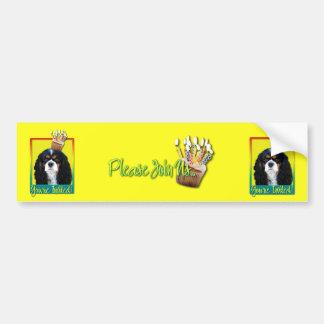 Invitation Cupcake - Cavalier - TriColor Car Bumper Sticker