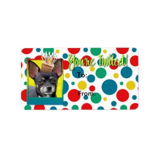 Invitation Cupcake - Chihuahua - Isabella Address Label