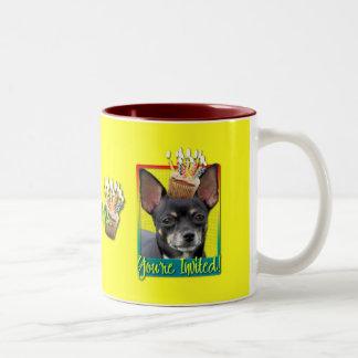 Invitation Cupcake - Chihuahua - Isabella Two-Tone Coffee Mug