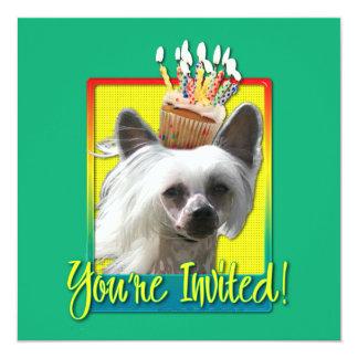 Invitation Cupcake - Chinese Crested - Kahlo
