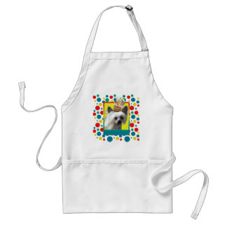 Invitation Cupcake - Chinese Crested - Kahlo Adult Apron