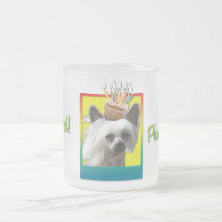 Invitation Cupcake - Chinese Crested - Kahlo 10 Oz Frosted Glass Coffee Mug