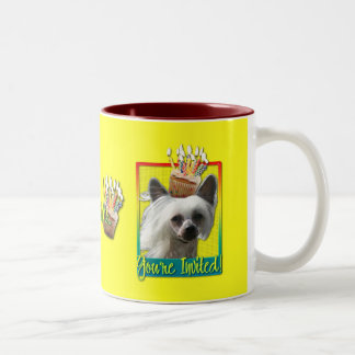 Invitation Cupcake - Chinese Crested - Kahlo Two-Tone Coffee Mug
