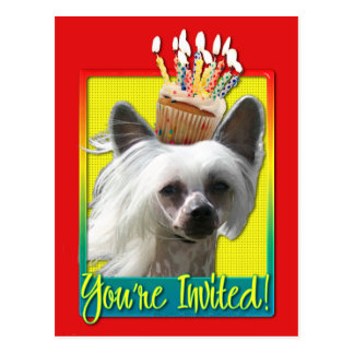 Invitation Cupcake - Chinese Crested - Kahlo Postcard