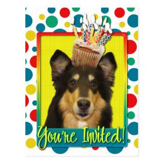 Invitation Cupcake - Collie - Caroline Postcard