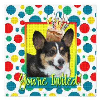 Invitation Cupcake - Corgi