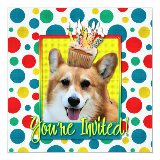 Invitation Cupcake - Corgi - Owen