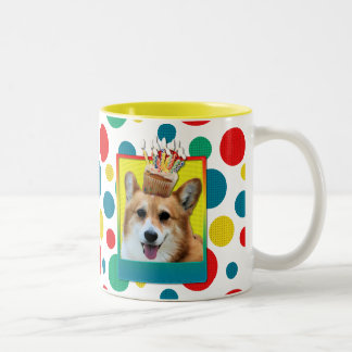 Invitation Cupcake - Corgi - Owen Two-Tone Coffee Mug