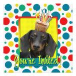 Invitation Cupcake - Dachshund - Winston