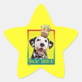 Invitation Cupcake - Dalmatian Stickers
