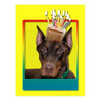 Invitation Cupcake - Doberman - Red - Rocky Postcard