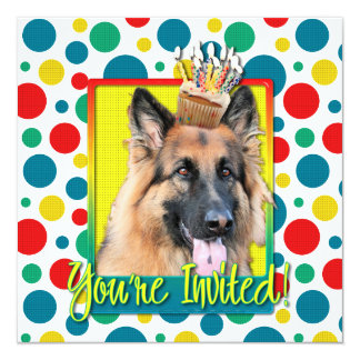 Invitation Cupcake - German Shepherd - Chance