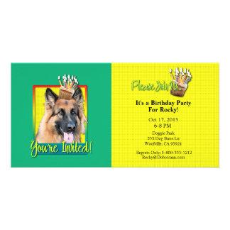 Invitation Cupcake - German Shepherd - Chance Customized Photo Card
