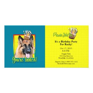 Invitation Cupcake - German Shepherd - Chance Photo Cards