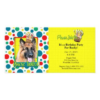 Invitation Cupcake - German Shepherd - Chance Photo Card