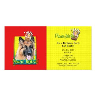 Invitation Cupcake - German Shepherd - Chance Custom Photo Card