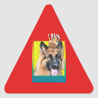 Invitation Cupcake - German Shepherd - Chance Triangle Sticker