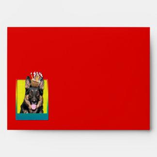 Invitation Cupcake - German Shepherd - Kuno Envelope
