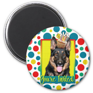 Invitation Cupcake - German Shepherd - Kuno Magnets