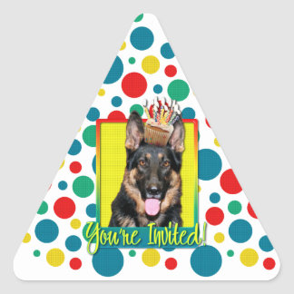 Invitation Cupcake - German Shepherd - Kuno Triangle Sticker