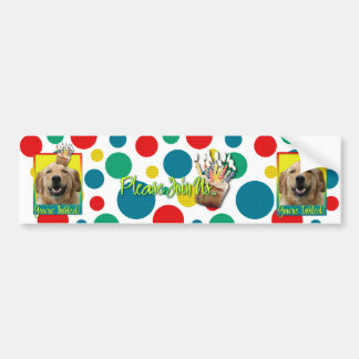 Invitation Cupcake - Golden Retriever - Mickey Bumper Sticker