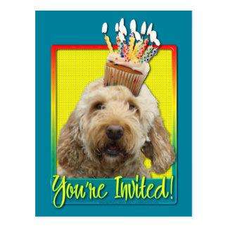 Invitation Cupcake - GoldenDoodle Postcard