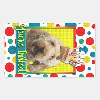 Invitation Cupcake - GoldenDoodle Stickers
