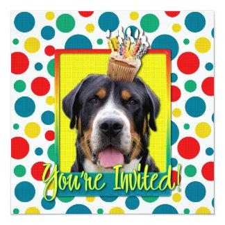 Invitation Cupcake - Greater Swiss Mountain Dog