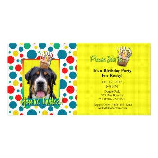 Invitation Cupcake - Greater Swiss Mountain Dog Custom Photo Card